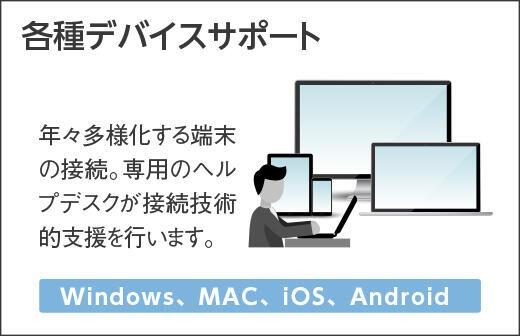 各種デバイスサポート